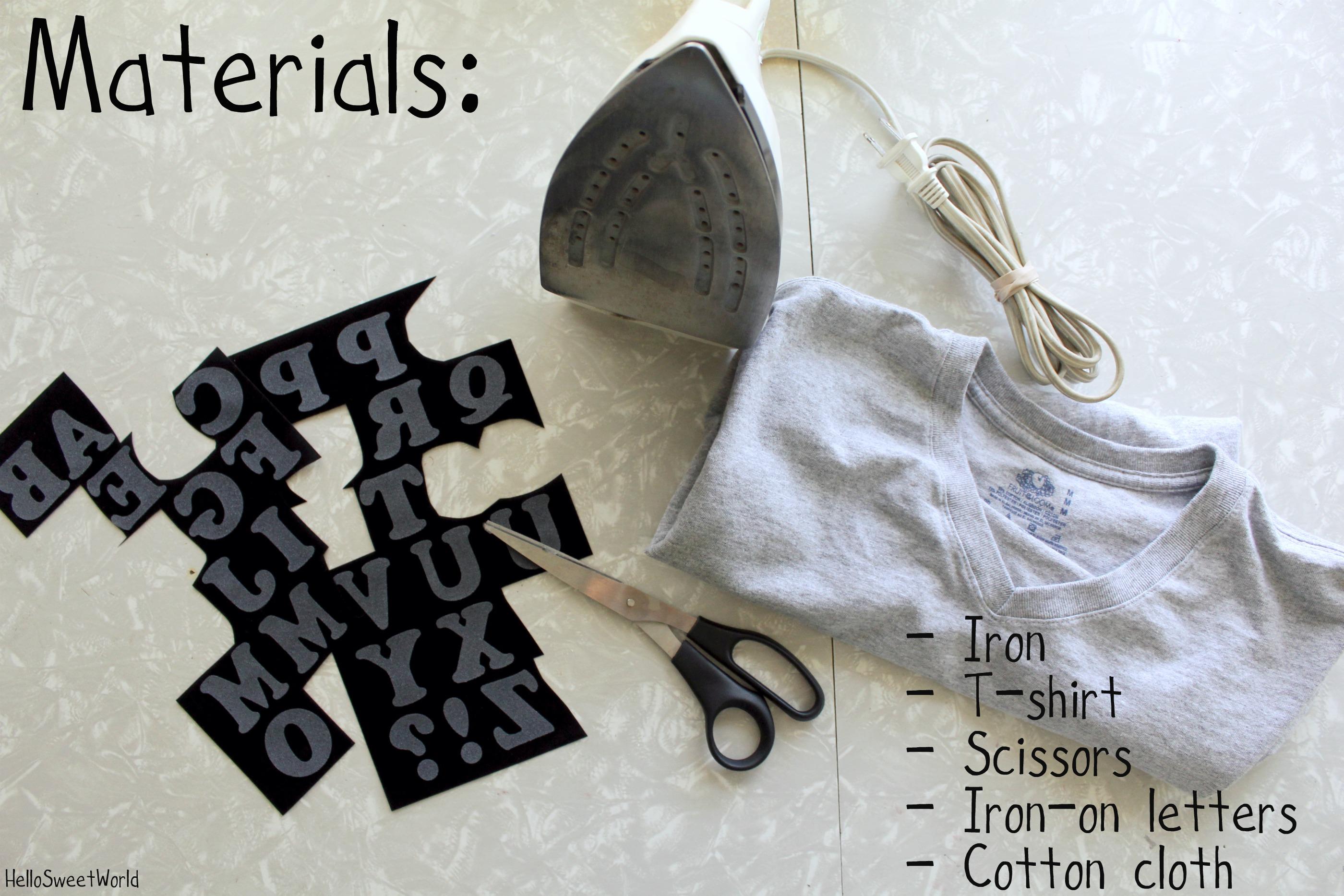 Lettered Shirt DIY | Hello/Sweet/World's Weblog